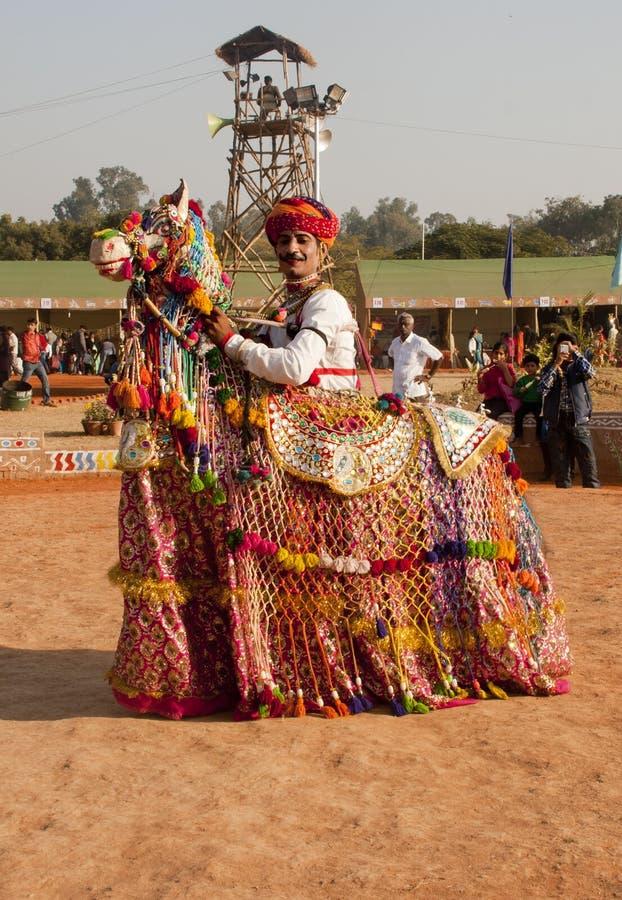 Rajathani folkkonstnär arkivbild