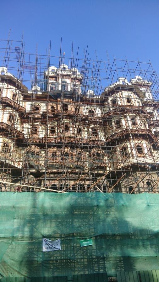 Rajbada o Rajwada Indore& x27; palazzo holkar dei righelli di s fotografie stock libere da diritti