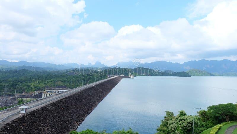 Rajchaprabha Dam, Surat Thani royalty free stock image