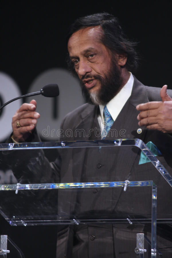 Rajendra Pachauri. Rajendra Kumar Pachauri, currently serving as the chair of the Intergovernmental Panel on Climate Change (IPCC) since 2002. Rajendra Pachauri royalty free stock photo
