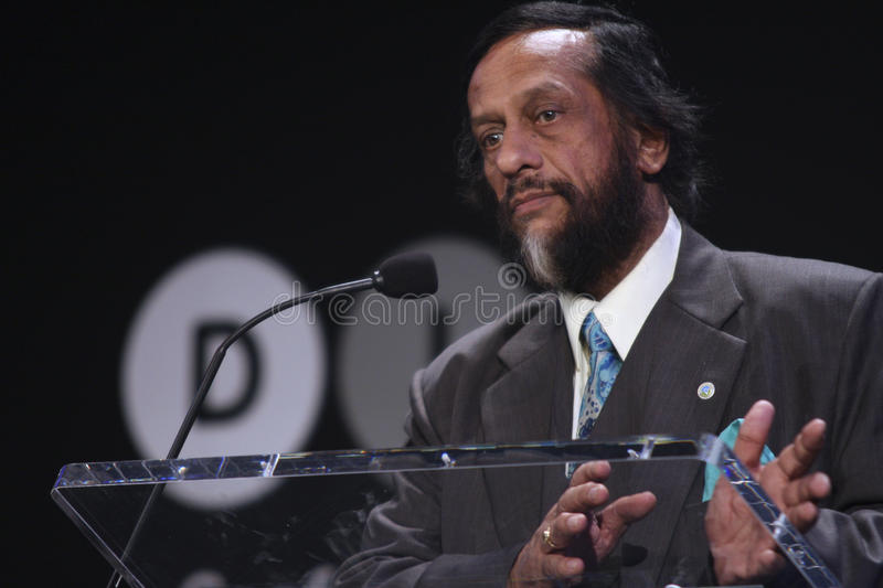 Rajendra Pachauri. Rajendra Kumar Pachauri, currently serving as the chair of the Intergovernmental Panel on Climate Change (IPCC) since 2002. Rajendra Pachauri stock photo