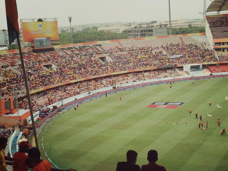 Rajiv Gandhi Cricket Stadium stockbild