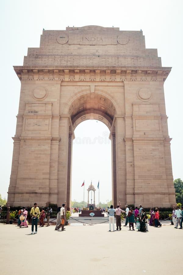 Rajpath, colline de Raisina, India Gate, New Delhi, Inde en janvier 2019 : L'auvent vide, construit en grès rouge, un symbole de image libre de droits