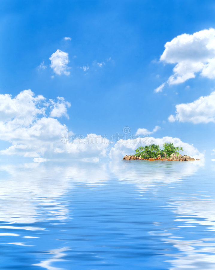 rajskiej wyspy zdjęcie royalty free