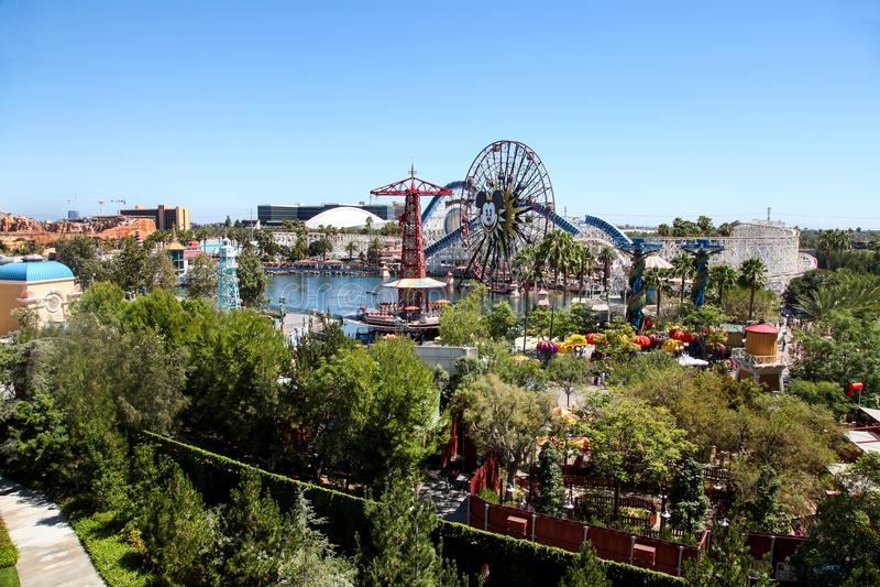 Raju molo w Disney ` s Kalifornia przygodzie zdjęcie royalty free