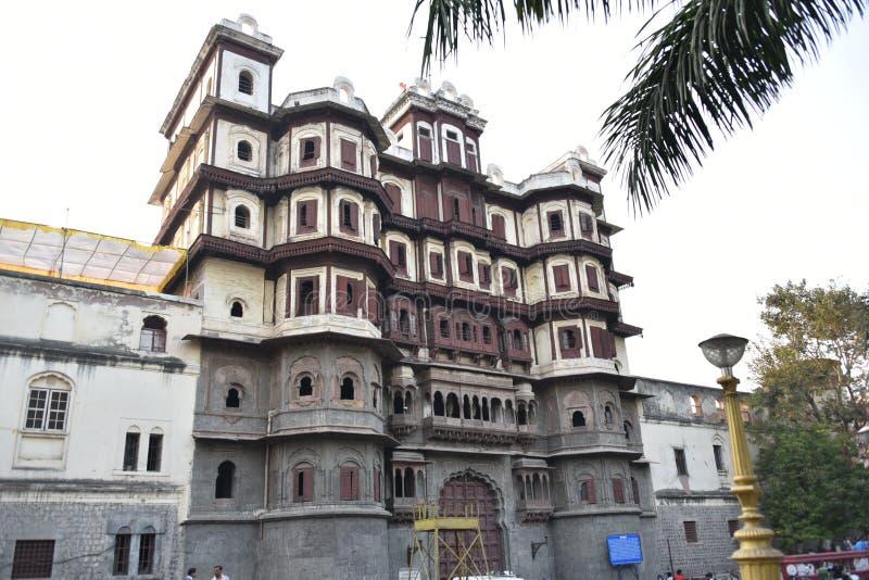 Rajwada Mahal, Indore Madhya Pradesh royaltyfri foto