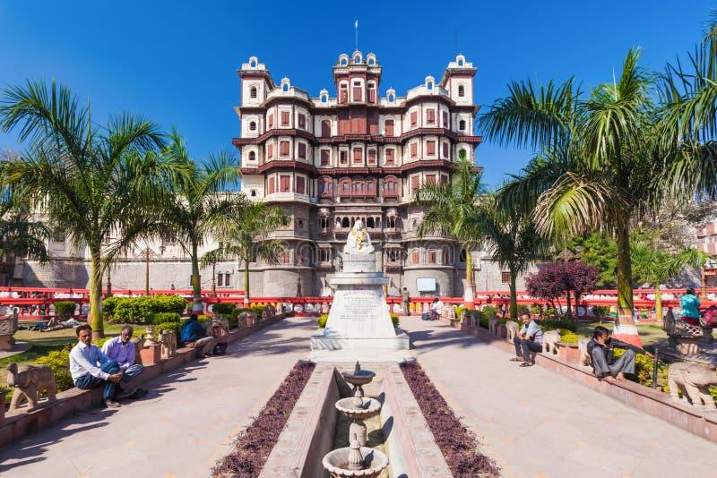 Rajwada-Palast, Indore lizenzfreie stockbilder