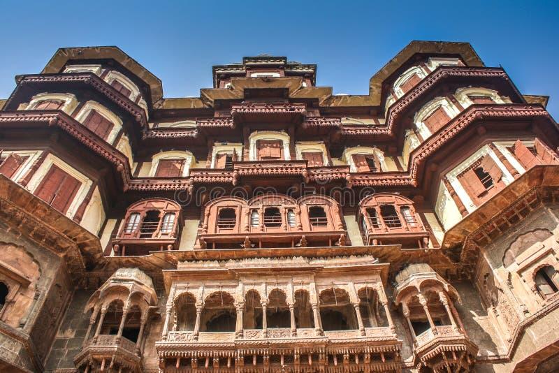 Rajwada slott Indore arkivbilder
