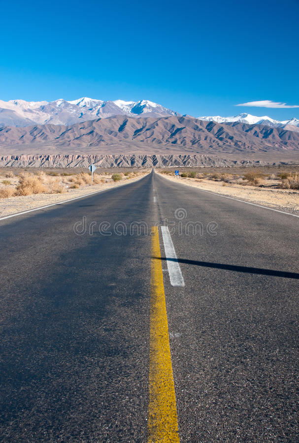rak argentina lång nordlig väg arkivfoto