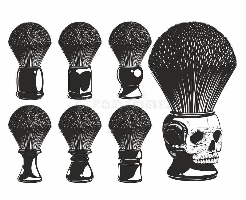 Raka borsten royaltyfri illustrationer