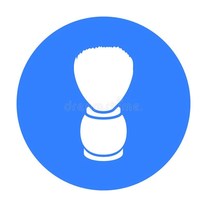 Raka borstesymbolen i svart stil som isoleras på vit bakgrund Illustration för vektor för Hairdressery symbolmateriel stock illustrationer