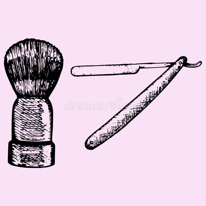 raka för borsterakkniv vektor illustrationer