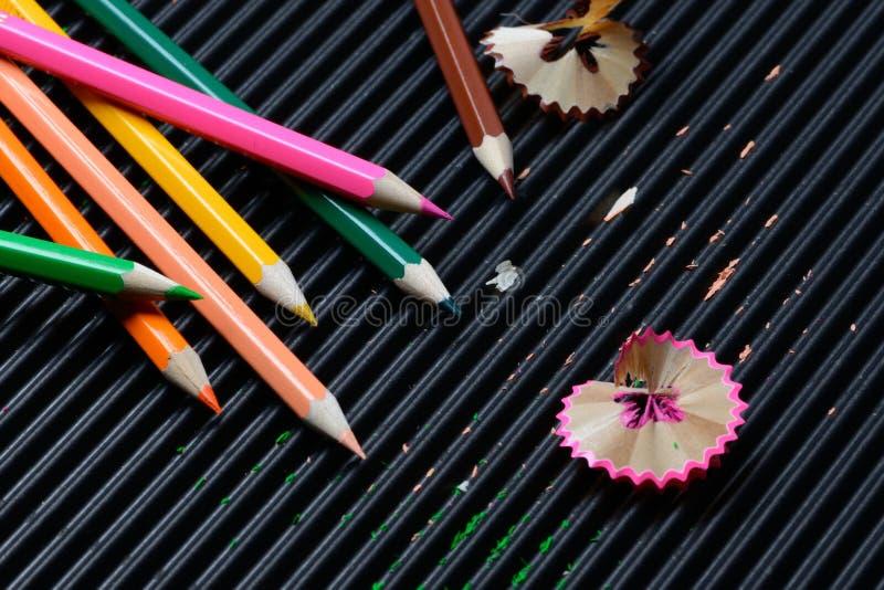 Raka för crayon arkivbilder