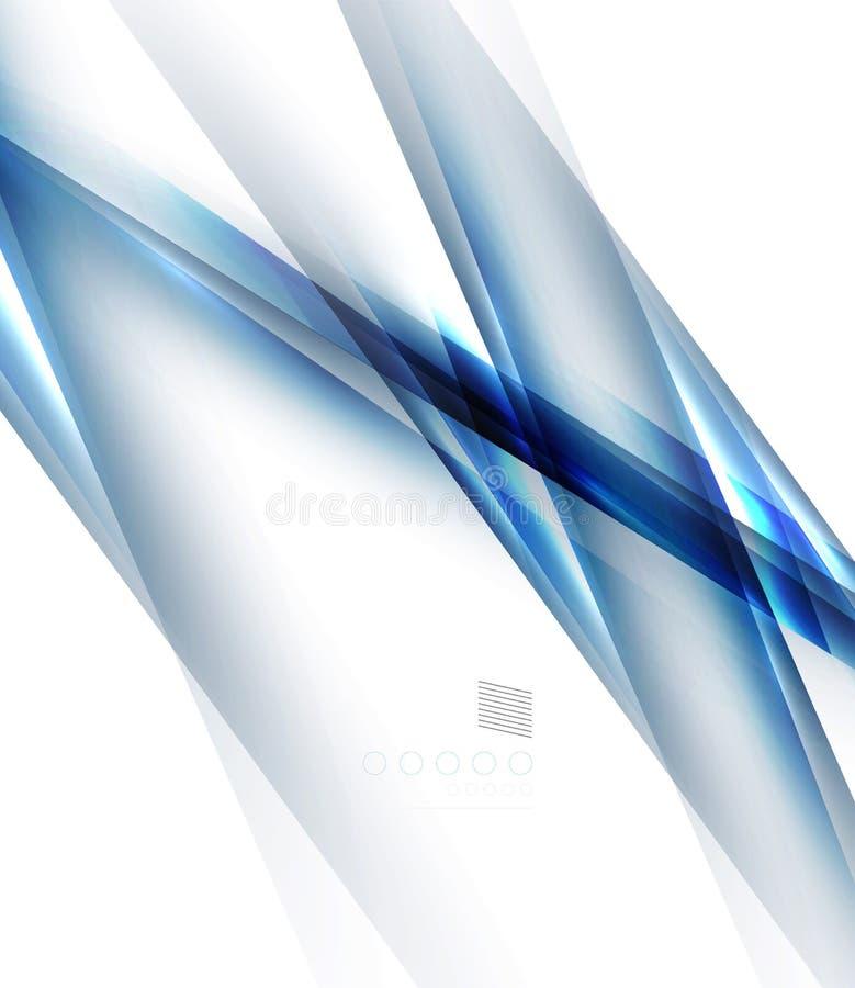 Raka linjer design för blå ljus skugga royaltyfri illustrationer