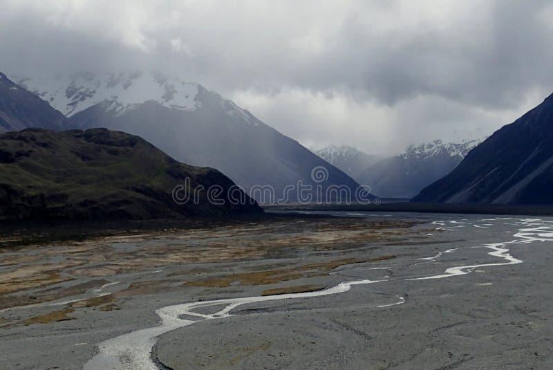Rakaia River, New Zealand stock photography