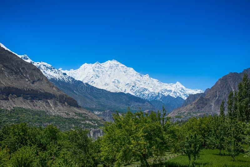 Rakaposhi szczytu góra fotografia royalty free