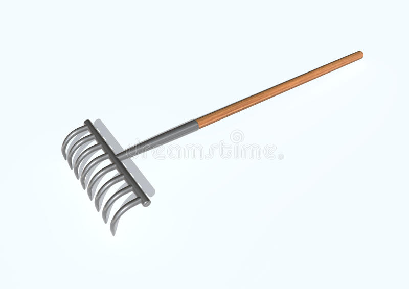 Rake royalty free illustration