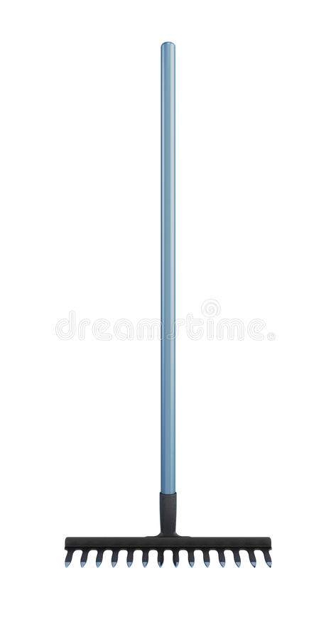 Rake. 3d. stock illustration