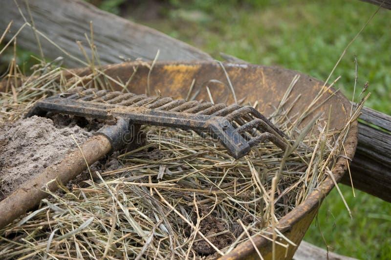 Download Rake on wheelbarrow stock photo. Image of equipment, farm - 6011638