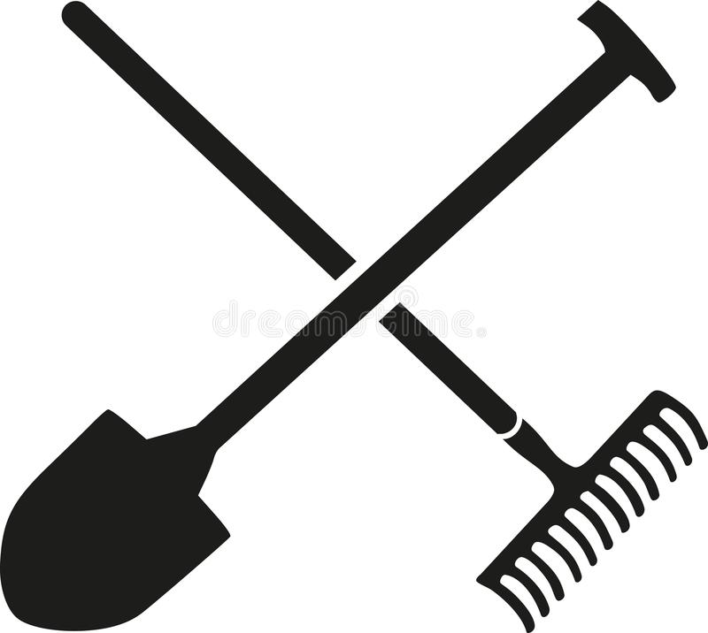 Free Rake With Shovel Crossed Royalty Free Stock Photography - 107187887