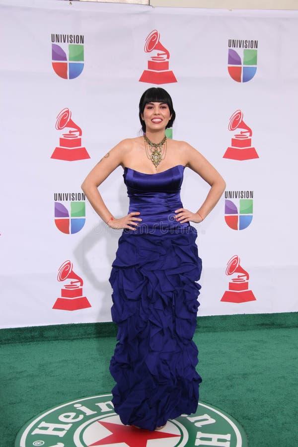 Rakel chega nos 1òs Grammy Latin anuais fotos de stock