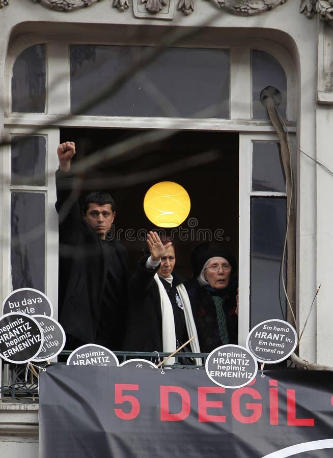 Rakel Dink en la conmemoración de Hrant Dink imagen de archivo libre de regalías