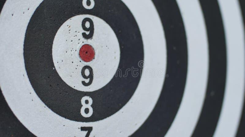 Rakend stieren` s oog, kies geschoten stier-oog uit Concept succesvolle bedrijfsidee?n die het nauwkeurige centrum van het doel r stock afbeelding