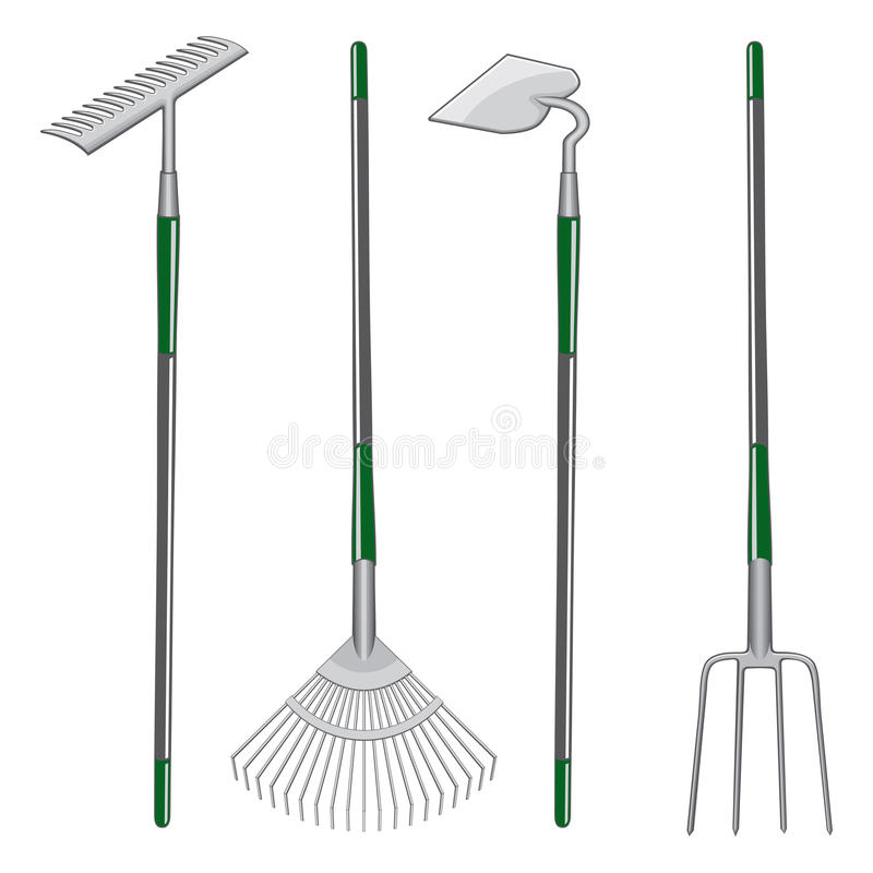 Download Rakes Hoe And Pitchfork Stock Image - Image: 20443601