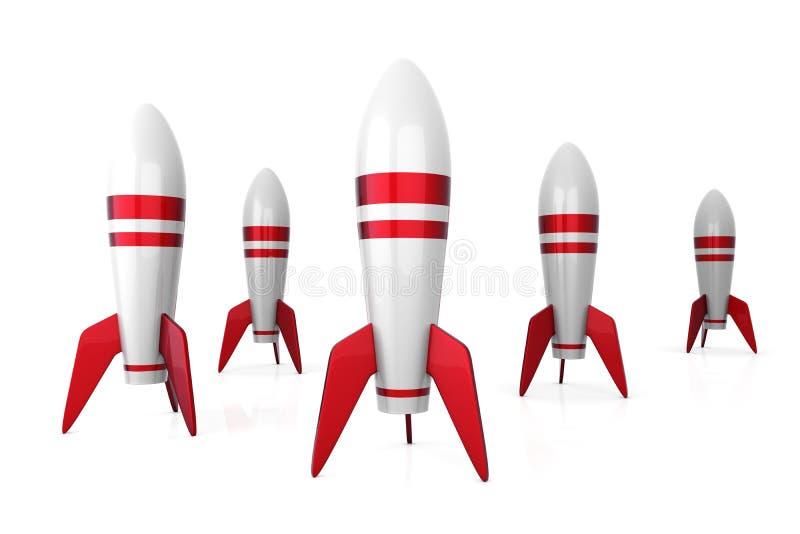 raket stock illustrationer