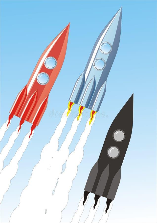 Raket royalty-vrije illustratie