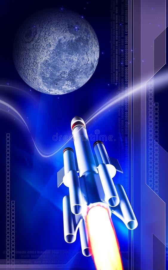 Raket en aarde vector illustratie