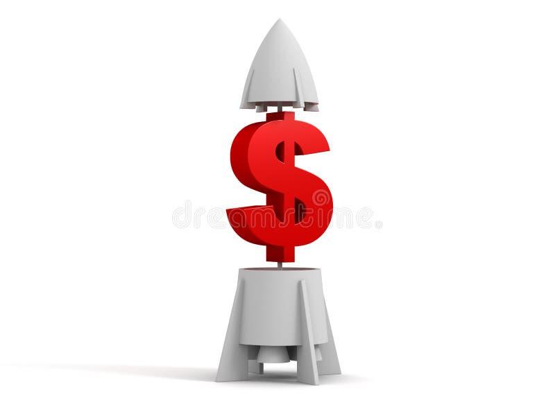 raket för dollar 3d fotografering för bildbyråer