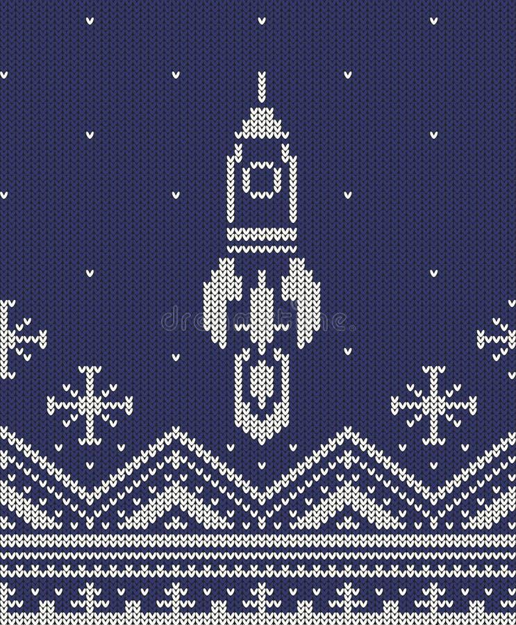Raket gebreid ornament vector illustratie