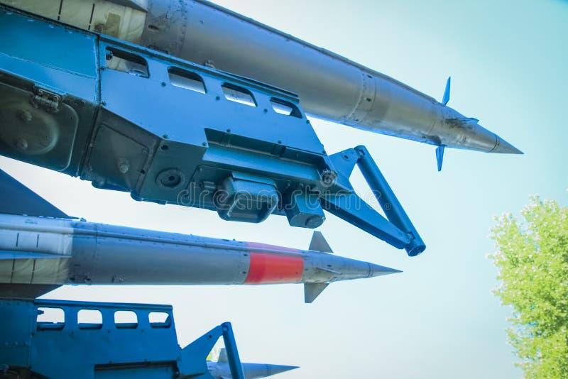 Raket i museet arkivbild