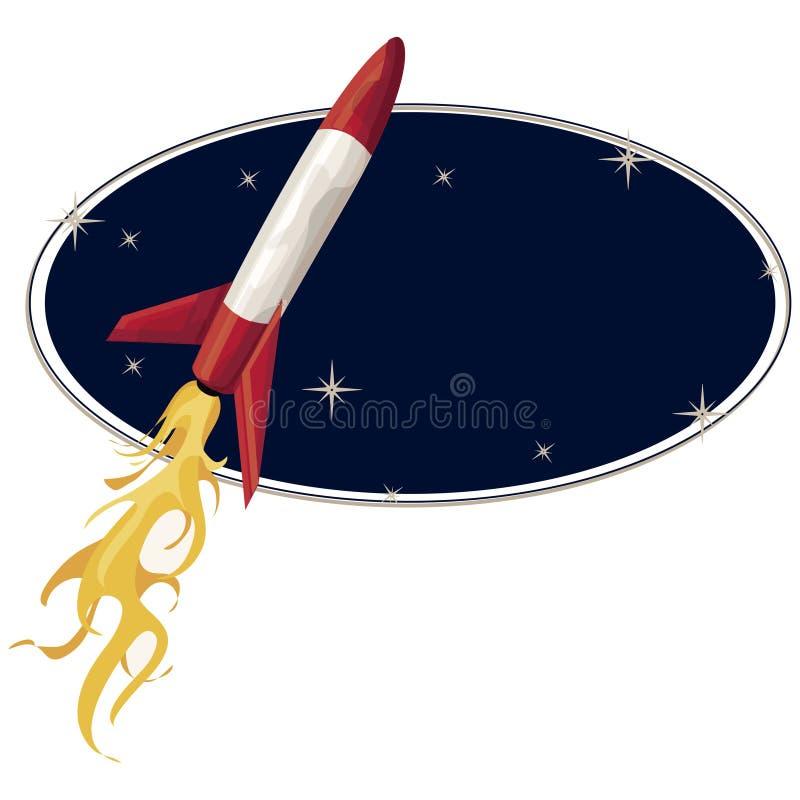Raket met het knippen van weg vector illustratie
