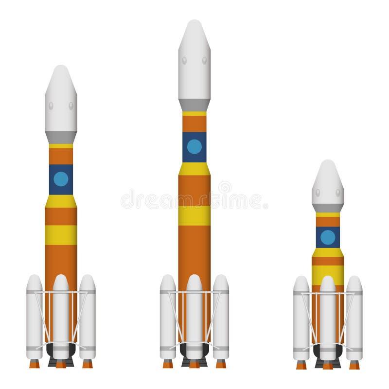 Raket och missil stock illustrationer