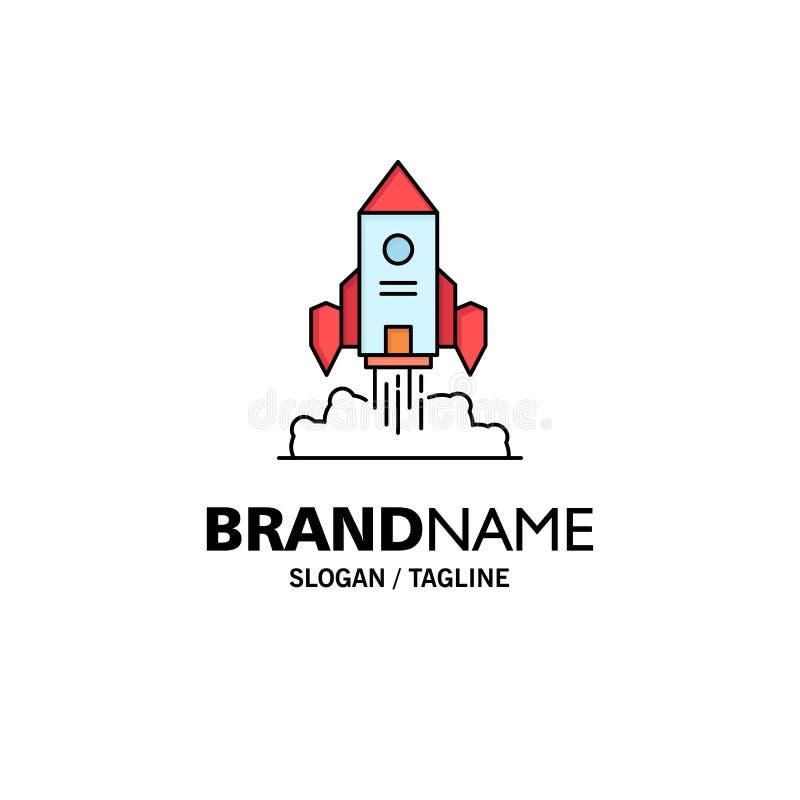 Raket rymdskepp, start, lansering, modig plan färgsymbolsvektor royaltyfri illustrationer
