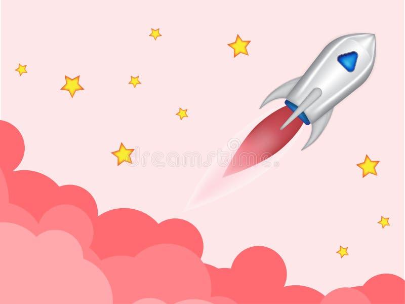 Raket startidee stock foto's