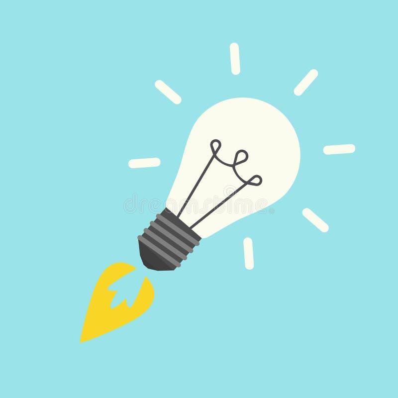 Raket in vorm lightbulb royalty-vrije stock fotografie
