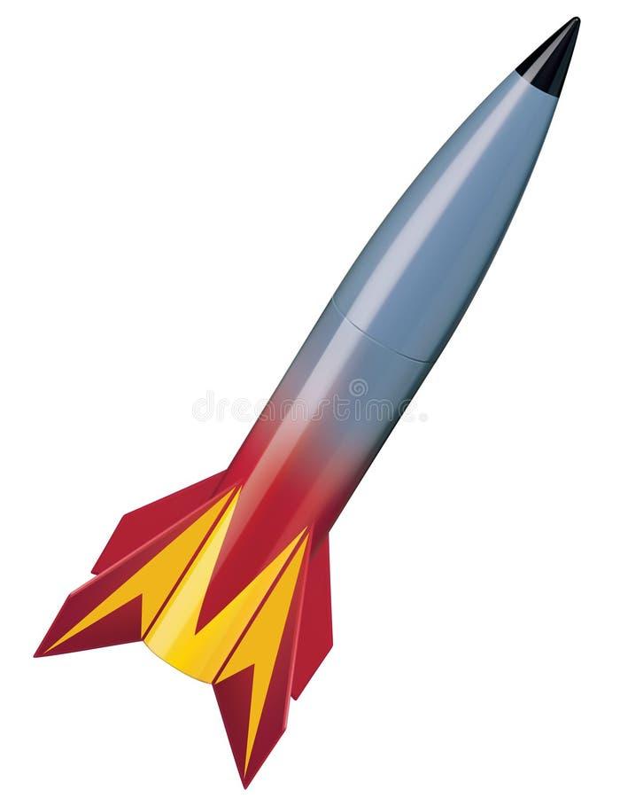 Rakete lokalisierter Vektor lizenzfreie abbildung