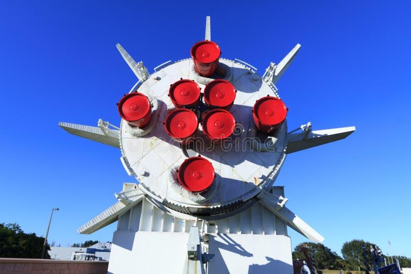 Rakete Saturns 1B in Rocket Garden lizenzfreie stockfotos