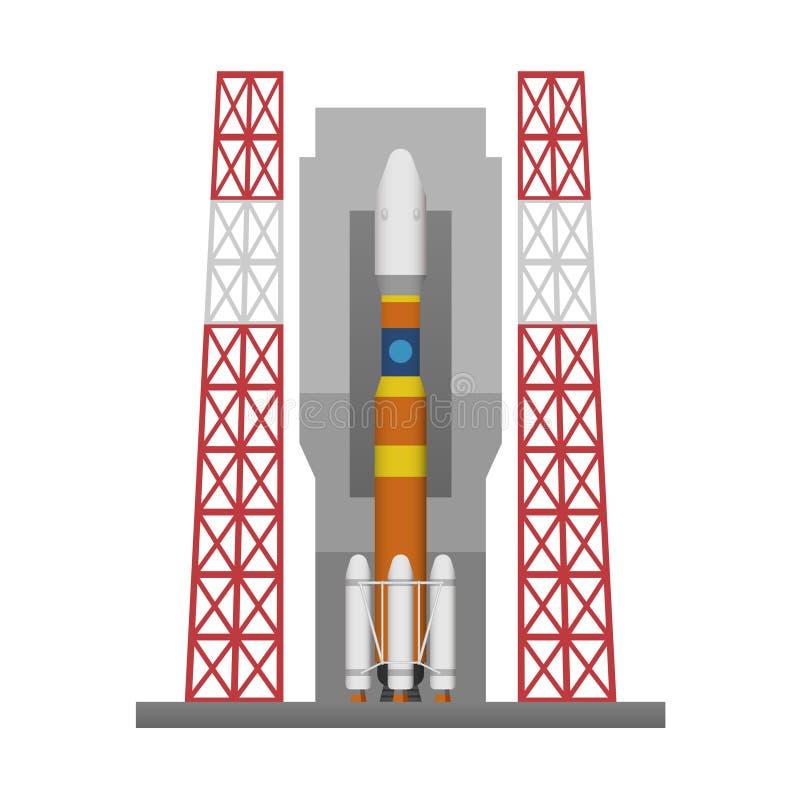 Raketenstartauflage lizenzfreie abbildung