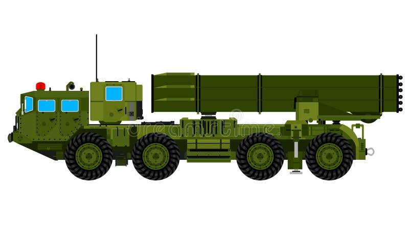 Raketgevärlastbil stock illustrationer