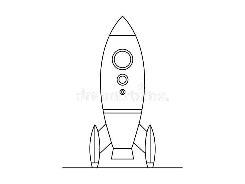 Raketillustationvektor royaltyfri illustrationer