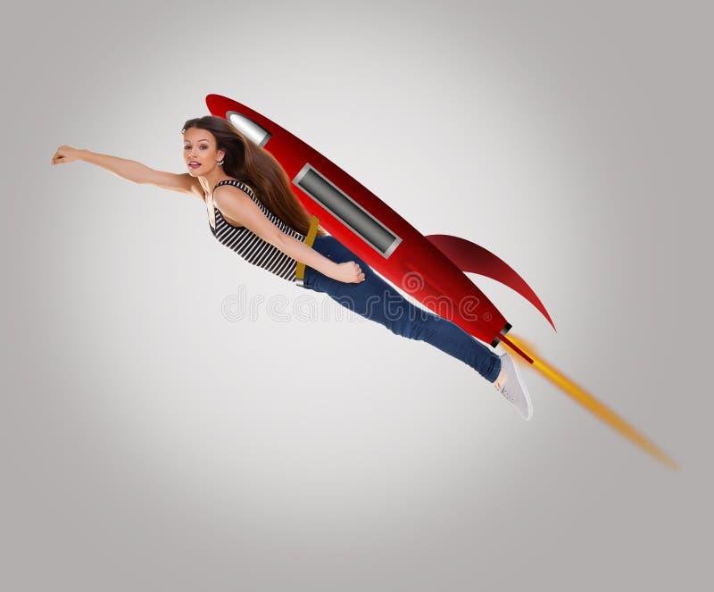 Raketkvinna royaltyfri illustrationer