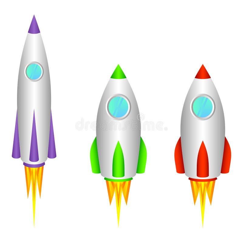 Raketten. stock illustratie