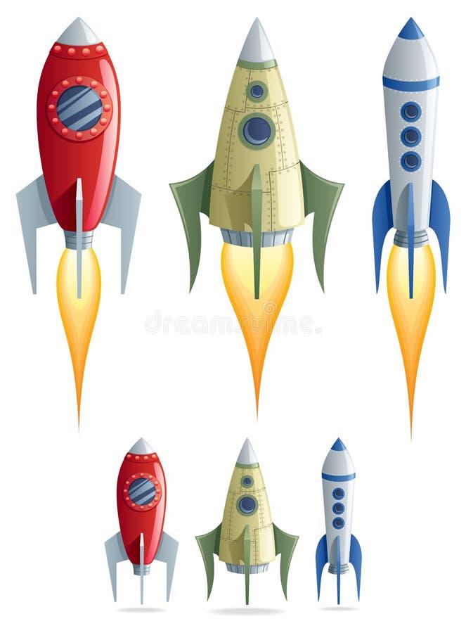 Raketten stock illustratie