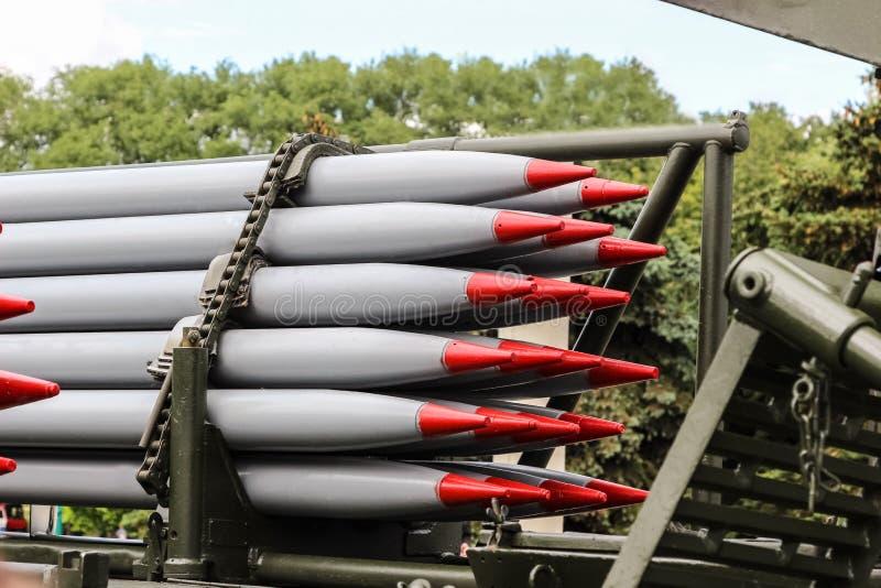 Raketten, massavernietigingswapens, chemische wapens, atoomwapens stock afbeeldingen