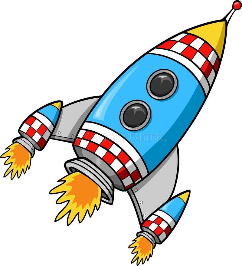raketvektor stock illustrationer