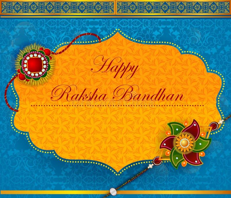 Rakhi élégant pour la liaison de frère et de soeur en festival de Raksha Bandhan d'Inde illustration libre de droits